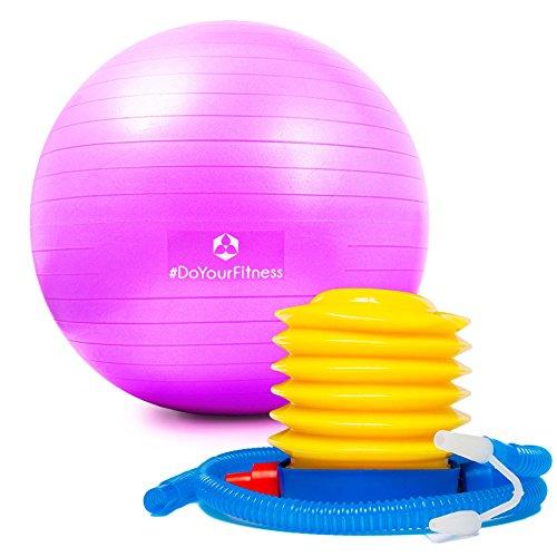 Gymnastikball »Pluto« inklusive Fusspumpe zum aufblasen/Robuster Sitzball und Fitnessball / 85 cm/pink