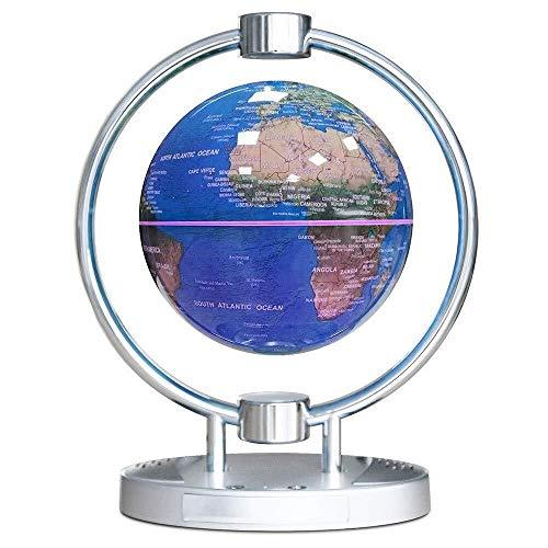 LULUTING Magnetic Schwebender Globus, Bluetooth Audio 6-Zoll-Globus, Bunte LED-Licht pädagogische Geschenke Werkzeug Home Office Schreibtisch-Dekoration, kreative Neuheit-Geschenke