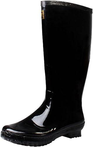 Mingteng botas de Goma Inferior Zapaños a Prueba de Agua (Color   negro, Talla   43EU=10uk=12US)