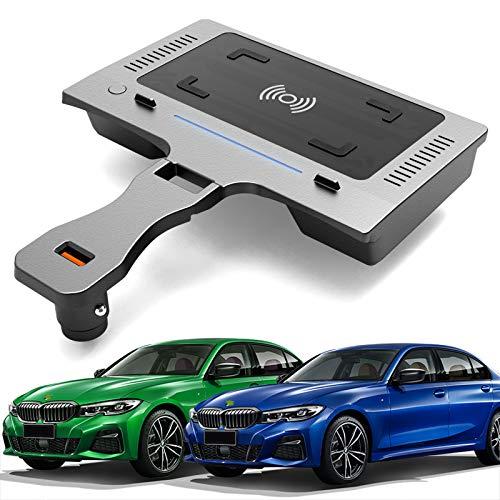 AWYLL Cargador de Coche inalámbrico para BMW 3 Series G20 G28 2020 2021, Cargador de teléfono de Carga rápida de 15 W con Puerto USB para iPhone 12 Pro MAX Mini 11 / XS MAX/XR / 8, Galaxy S20 / S10