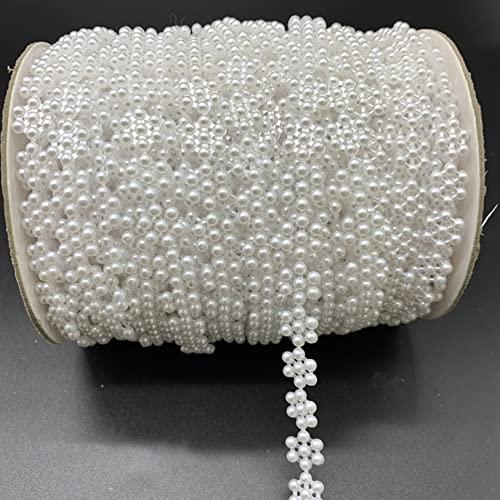 Imitation Pearl Beads Chain Garland Flowers Acrylic Beads for Wedding Decoration DIY Jewelry AC7essories