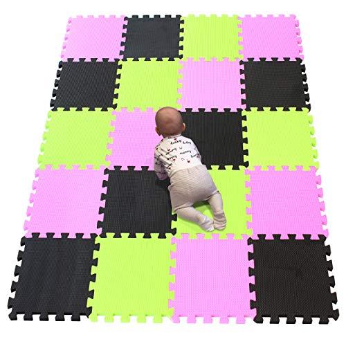 YIMINYUER Alfombra puzles para Bebe Puzzle Infantil Suelo Piezas Goma eva ninos de Suelo Grande Infantiles Rosado Negro Pastoverde R03R04R15G301020