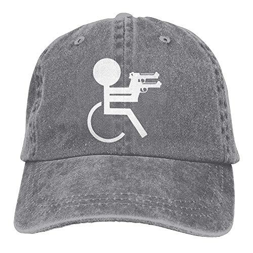 XBFHG Männer Frauen Funny Rollstuhl Verstellbare Jeans Baseball Cap Sun Hat