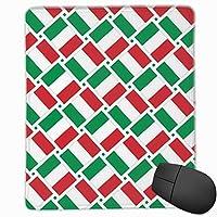 マウスパッド イタリアの国旗 ゲーミング オフィス最適 高級感 おしゃれ 防水 耐久性が良い 滑り止めゴム底 ゲーミングなど適用 マウスの精密度を上がる( 22*18*0.3cm )