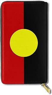 Australian Aboriginal Flag Women Men Leather Wallet, Multi-card Long Purse