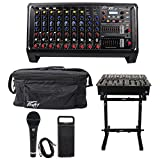Peavey XR AT 1000w Powered 9 Channel Bluetooth Mixer+AutoTune XRAT+Bag+Stand+Mic