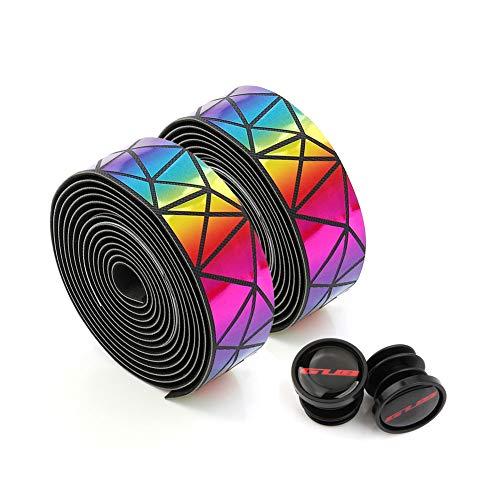 MOVIGOR Bunter Farbverlauf Langlebiges Profi Fahrrad Lenkerband, Griffband für Rennrad, aus extra robustem und griffigem Schaumstoff mit Klebestreifen