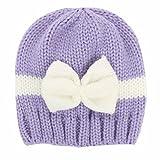 Kuyou Baby Kids Winter Mütze Neugeboren Jungen Mädchen Strickmütze Beanie (Lila)