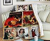 Vintage Gone with The Wind Fleece Blanket Fan...