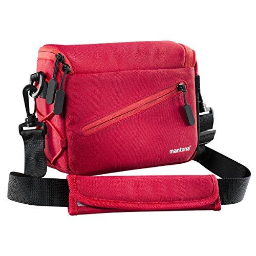 Mantona Irit cameratas voor compacte systeemcamera inclusief Lens en accessoires voor Nikon 1, Sony NEX, Olympus PEN OM-D, rood