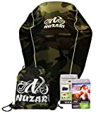 Breathable Motorcycle Cover W/elastic Bottom. Premium Heavy Duty Outdoor Waterproof All Season Polyester W/soft Screen Shield. Universal Heat Resistant Lockable Fabric (Camouflage, Medium)