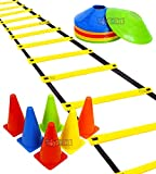 PRACTICE WELL: Many sports require a lot of practice and training, and that is where these vibrant colored training cones come into the picture. Vivid and round cones come packed together for a portable and effective pack of sports training equipment...