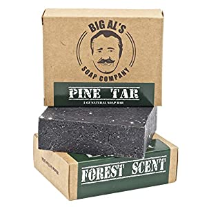 Big Al's Pine Tar Soap (1) 5oz Bar With Natural Ingredients and Essential Oils, Forest Scent 4