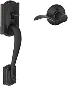 Camelot Front Entry Handle Accent Right-Handed Interior Lever (Aged Bronze) FE285 CAM 716 ACC RH