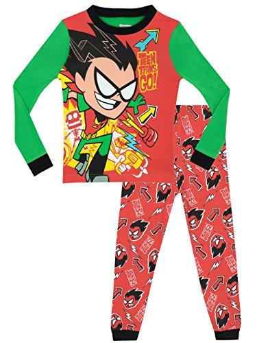 Teen Titans Go! - Pijama para Niños - Teen Titans - Ajuste Ceñido - 4 - 5...