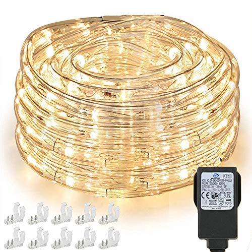 Nurkoo Guirnalda de luz LED, 10 m, 240 ledes, resistente al agua,...