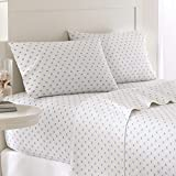 Southern Tide Home Printed Skipjack Cotton Sheet White, Queen