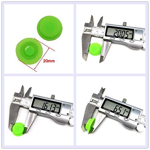 2pcs Nuevo C8 Negro/Verde Tapas de Interruptor de Linterna Tapón de Goma Impermeable Botón de presión Tapa de luz 17.6mm Interruptor de Linterna Accesorios de Sombrero Verde 20 mm x 2 Piezas