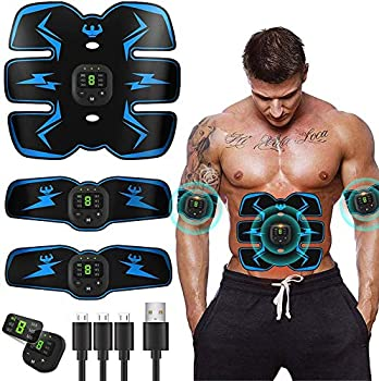 Abs Stimulator,Muscle Toner,Abs Stimulating Belt- Abdominal Toner- Training Device for Muscles-Wireless Portable to-Go Gym Device- Muscle Sculpting at Home- Fitness Equipment for at-Home Workouts