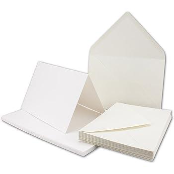 fogli di separazione e buste Set di carta da lettere in carta riciclata,/colore marrone naturale 25 Karten-Sets marrone DIN B6 con biglietti pieghevoli