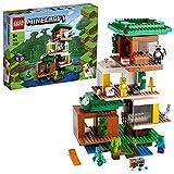LEGO 21174 Minecraft La Casa del Árbol Moderna, Juguete de Construcción para Niños a Partir de 9 Años con Mini Figuras