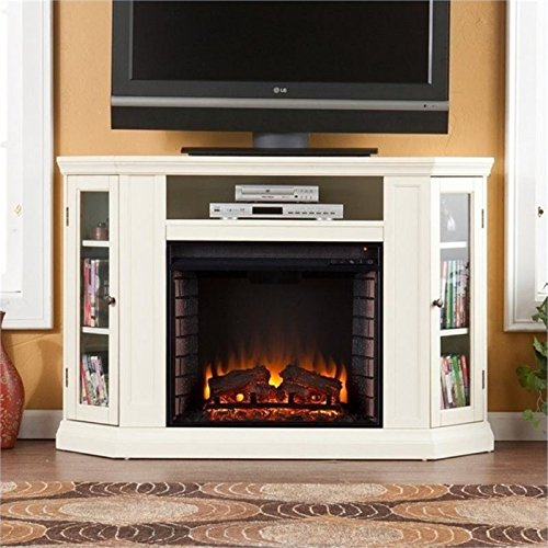 BOWERY HILL 48' Convertible Electric Fireplace TV Stand in Ivory