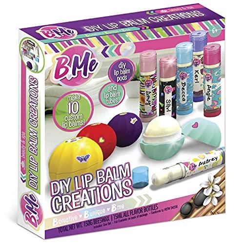Make Your Own Lip Balm Maker Kit for Kids - DIY Craft Kit for Girls - Lip Gloss - Lip Balm Tubes, Pods, Lip Balm Maker Set For 15+ Lip Balms in 5 Flavors Great Gifts for Tween Girls Age 6+