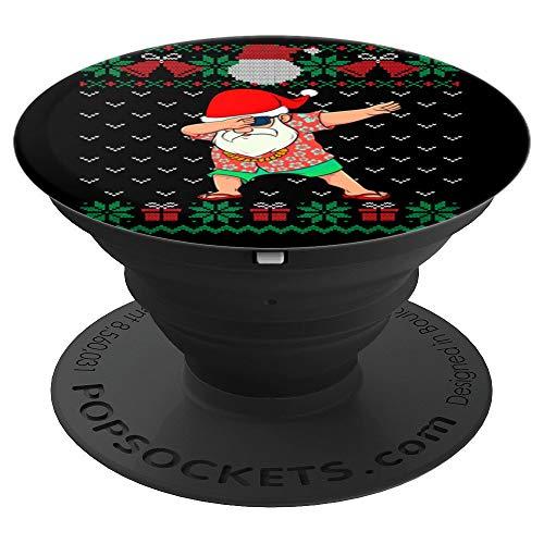 Dabbing Santa, Ugly Christmas Sweater July Hawaiian Dab Xmas PopSockets Grip and Stand for Phones and Tablets