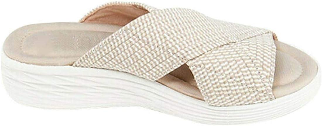 LELEBEAR 2021 Product Upgrade-Stretch Orthopedic Slide Sandals,Orthopedic Slippers for Women Open Toe