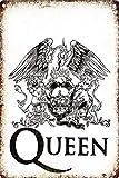 HALEY GAINES Queen Rock Targa in Metallo Decorazione Parete Cartello Vintage Appendere Poster retrò Muro Placca per Bar Cucine Bagni Garage Hotel Giardino 20×30cm