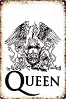 Queen Rock 金属板ブリキ看板警告サイン注意サイン表示パネル情報サイン金属安全サイン