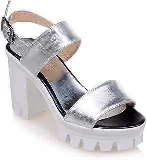 BalaMasa Womens ASL06012 Pu Heeled Sandals