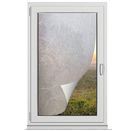 TRIXES Sichtschutzfolie - Dekorative Selbstklebende Folie für Fenster und Türen, den Besprechungsraum oder fürs heimischen Badezimmer - Mattierter, opaker Glaseffekt - 45cm x 200cm