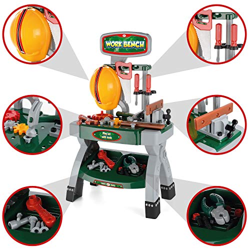 Toyrfic Kids Workbench, Role Play Tool Kit for kids, Toy Construction Set with 40 Pieces