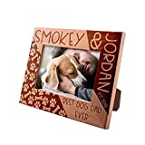 Best Dog Dad Ever, Personalized Picture Frame | 4x6 | Custom Engraved Frame w Name & Year - Dog Father Gifts, Dog Owner Gifts D#10