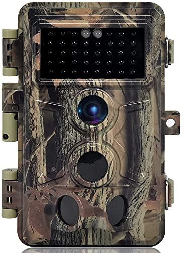 DIGITNOW! Cámaras de Caza 16MP 1080P FHD Impermeable,Gran Angular de 120° y 42pcs IR LED Infrarrojo Visión Nocturna con Hasta 80FT/25m,Sendero Juego Camera, Cazar Vigilancia de la Fauna