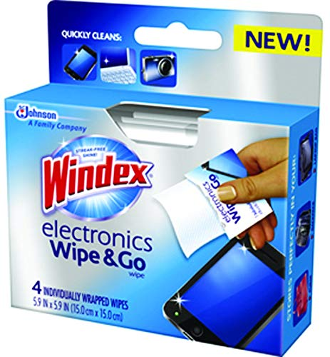 Windex Electronics 'Wipe and Go' Wipes 4 ct