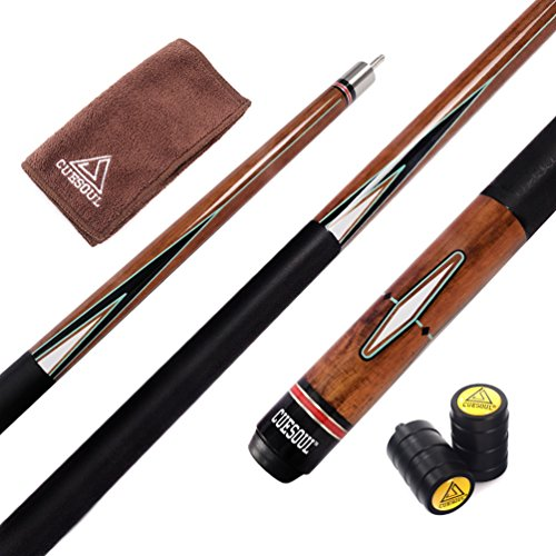 CUESOUL 57 Inch Pool Cue with 13mm Cue Tips with Cleaning Towel & Joint Protector (CSPC018)