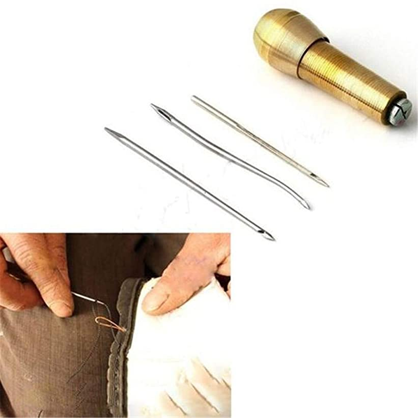 男らしい禁止するポジティブLVESHOP ミシンフックコーン、3本針付き銅ハンドル