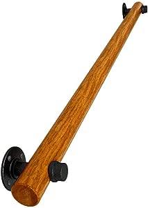 Safety Corridor Handrails  Solid Wood Stair Railings  Non-Slip Railings  Handrail Support Bars  Home Wall Lofts  Elderly Children s Shatter-Resistant Handrails 3Pcs 100CM