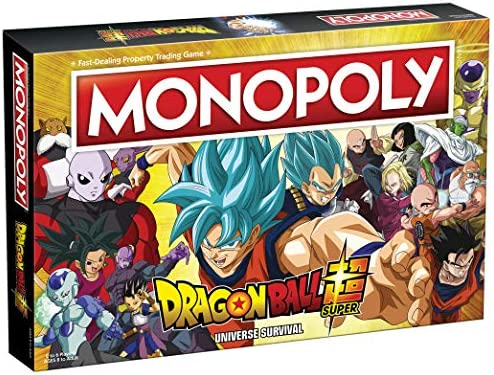 Monopoly Dragon Ball Super Recruit Legendary Warriors Goku Vegeta and Gohan Official Dragon product image