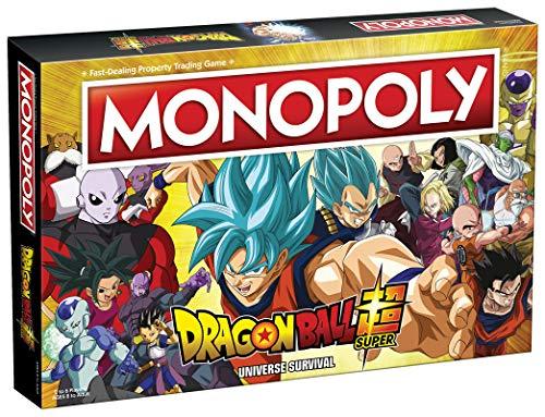 Monopoly Dragon Ball Super | Recruit Legendary Warriors Goku, Vegeta and Gohan | Official Dragon Ball Z Anime Series Merchandise | Themed Monopoly Game