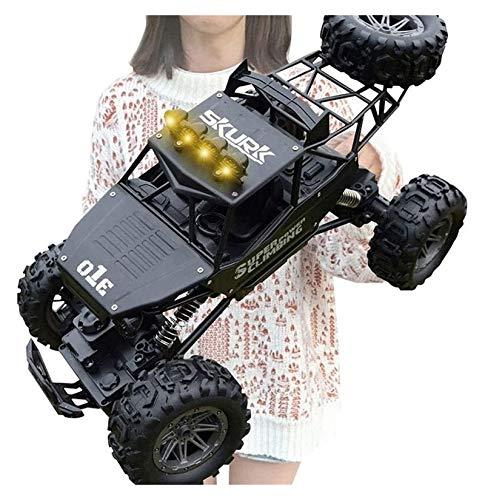 YYQIANG 4x4 High Speed RC Coche Modelo de juguetes Radio Control Remoto RC Monster Truck Remoto Relpe Racing Coche con Luces, Remoto Inalámbrico Off-Road con Motores Dobles, Niños Regalo Regalo Afic