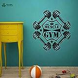 woyaofal Gewichtheben Abnehmbare Aufkleber Interieur Gym Studio Wandbild Vinyl Gym Sport Fitness...