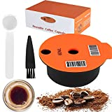 Reusable Coffee Capsule, Compatible with Bosch-s Tassimo Machines, Coffee Filter Refillable, Coffee Pods with Readable Barcode