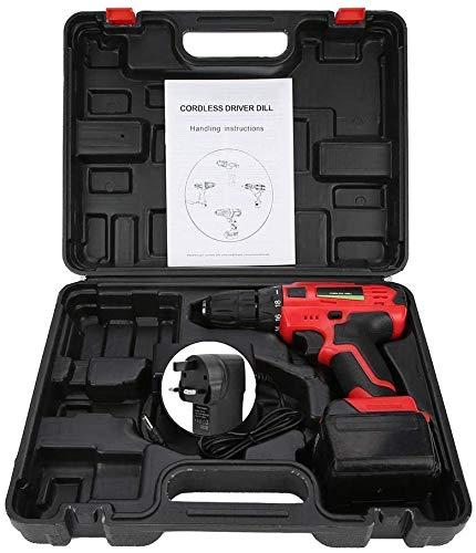 21V accu-boormachine schroevendraaier Handheld Tool (GB), 21V elektrische oplaadbare accuboormachine schroevendraaier Handheld Tool (UK Plug 100-240 V) zhihao
