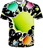 Camiseta Termica Niño Azul Camisetas Gráficas para Mujer para Hombre Camisetas De Manga Corta Impresas En 3D Unisex Tops