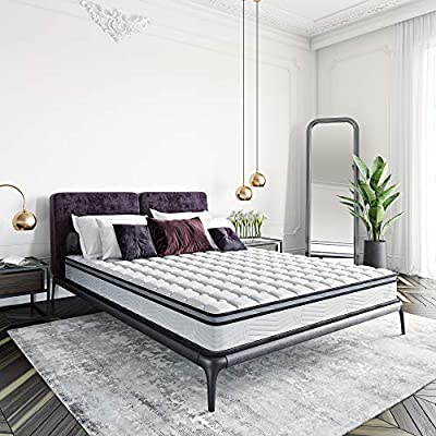 Classic Brands Carleton Bonnel Innerspring Firm 8-Inch Mattress | Bed-in-a-Box Queen
