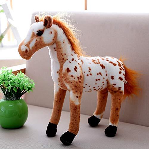 Heguowei 120cm Optionen in voller Größe authentische Simulation Tiger Plüsch Riesentiger König des Dschungels Plüsch Spielzeugpuppe Kinder Pferd A. About 75cm