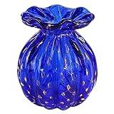 Moda 60s Buddy Pequeño Jarrón - Cristal Veneciano Azul Murano OMG